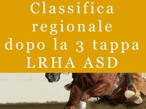 Classifica regionale dopo la 3 tappa LRHA ASD 2016