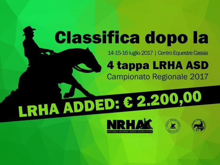 Classifica regionale dopo la 4 tappa LRHA ASD 2017