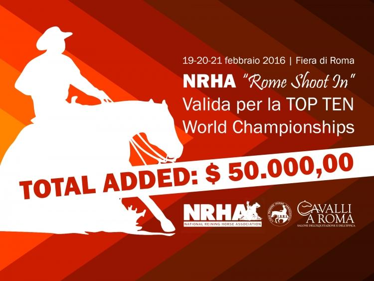 "NRHA ""Rome Shoot In"" e 1 tappa LRHA ASD 2016"
