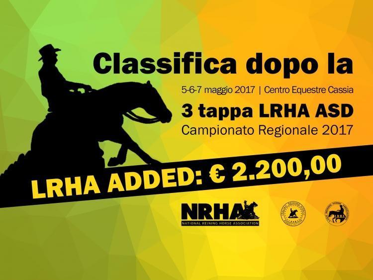Classifica regionale dopo la 3 tappa LRHA ASD 2017