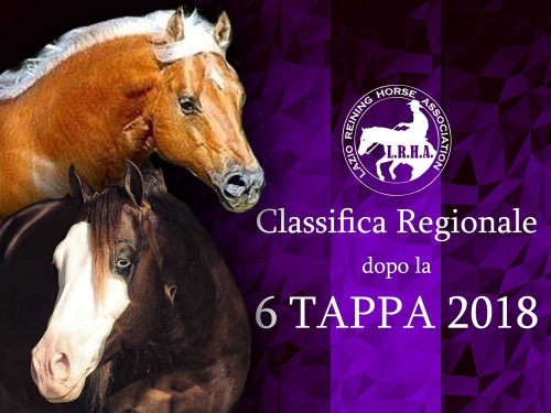 Classifica regionale dopo la 6 tappa LRHA ASD 2018 (definitiva)