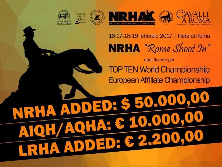 "NRHA ""Rome Shoot In"" e 1 tappa LRHA ASD 2017"