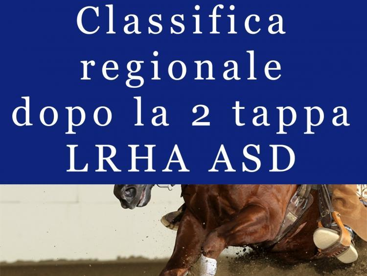 Classifica regionale dopo la 2 tappa LRHA ASD 2016