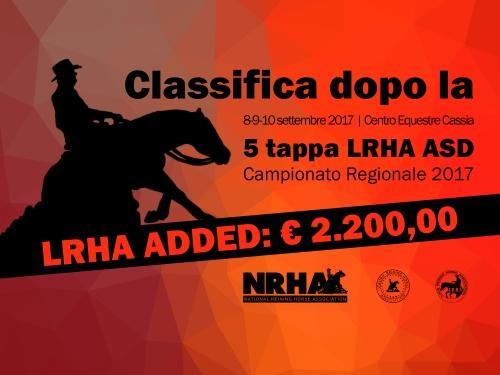 Classifica regionale dopo la 5 tappa LRHA ASD 2017