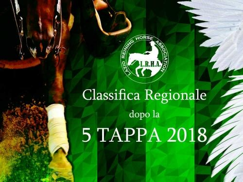Classifica regionale dopo la 5 tappa LRHA ASD 2018