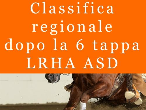 Classifica regionale dopo la 6 tappa LRHA ASD 2016